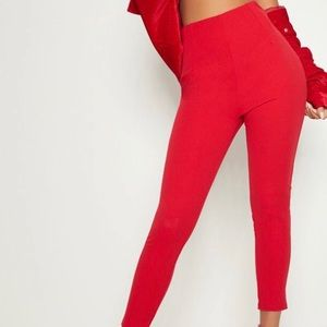 Prettylittlething Red Trousers